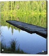 Wooden Dock On Lake Acrylic Print