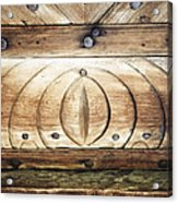 Wooden Doors Detail Acrylic Print