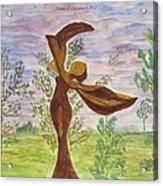 Wooden Femme Acrylic Print