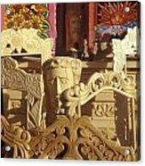 Wooden Furniture Tzintzuntzan Mexico Acrylic Print