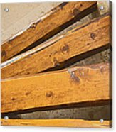 Wooden Polished Steps Acrylic Print
