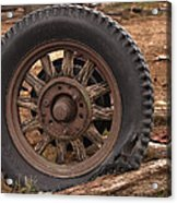 Wooden Spoked Tire Acrylic Print