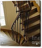 Wooden Stairs In Traditional Parisian Building Acrylic Print
