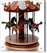 Wooden Toy Carousel Acrylic Print