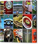 Woodie Car Collage Acrylic Print