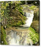 Woodland Waterfall Acrylic Print by Victoria Hillman