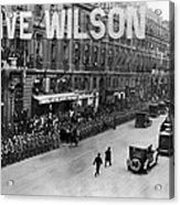 Woodrow Wilson In Paris Acrylic Print