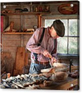 Woodworker - Carving - Carving A Duck Acrylic Print
