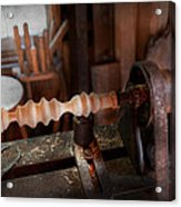 Woodworker - Lathe - Rough Cut Acrylic Print