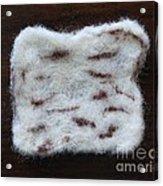Wool Matzah Acrylic Print by Heather Hennick