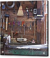 Work Bench And Tools Acrylic Print