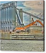 Working By The Bay Acrylic Print by Elizabeth Spencer