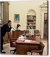 Working Late President Barack Obama Acrylic Print by Everett