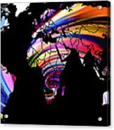 World Map Abstract Painting 2 Acrylic Print