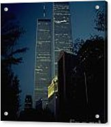 World Trade Center At Dusk Acrylic Print