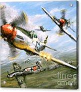 World War 2 P 51d Thisizit Checkertails Acrylic Print