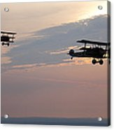 World War I Triplanes In Flight Acrylic Print