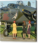 World War II B-25 Bomber Briefing Time Acrylic Print