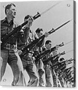 World War II, Bayonet Practice Acrylic Print
