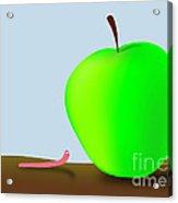 Worm And Big Apple Acrylic Print