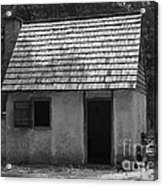 Wormsloe Cottage In Black And White Acrylic Print