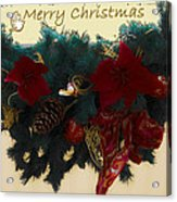 Wreath Garland Greeting Acrylic Print