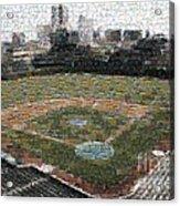 Wrigley Mosaic Acrylic Print by David Bearden