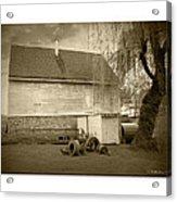Wye Mill - Sepia Acrylic Print