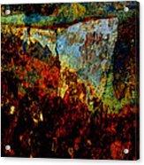 Wyoming Waterfall Abstract Acrylic Print