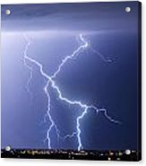X Lightning Bolt In The Sky Acrylic Print