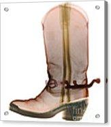X-ray Of Cowboy Boot Acrylic Print