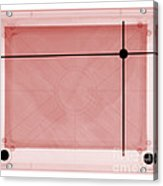 X-ray Of Etch A Sketch Acrylic Print by Ted Kinsman