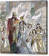 Xerxes I & Esther Acrylic Print
