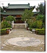Xi'an Temple Garden Acrylic Print