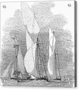 Yacht Race, 1855 Acrylic Print