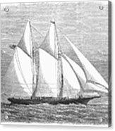 Yacht: Sappho, 1868 Acrylic Print