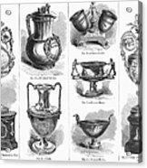 Yachting Trophies, 1871 Acrylic Print