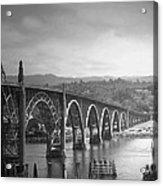 Yaquina Bay Bridge Oregon B And W Acrylic Print