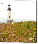 Yaquina Head Lighthouse In Oregon Acrylic Print by Artist and Photographer Laura Wrede