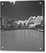 Yarrah River Melbourne In B And W Acrylic Print
