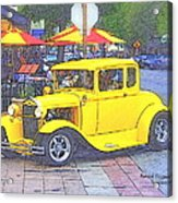 Yellow 1930's Ford Roadster Acrylic Print