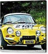 Yellow Alpine Renault Acrylic Print