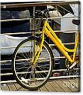 Yellow Bicycle Acrylic Print by Carlos Caetano