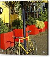 Yellow Bicycle Vancouver Canada Acrylic Print