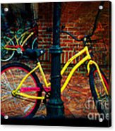 Yellow Bike Acrylic Print