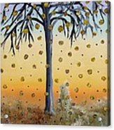 Yellow-blossomed Wishing Tree Acrylic Print