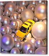 Yellow Cab Acrylic Print