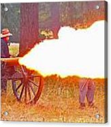 Yellow Cannon Flames  Acrylic Print