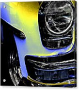 Yellow Chrysler Acrylic Print