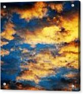 Yellow Clouds Acrylic Print